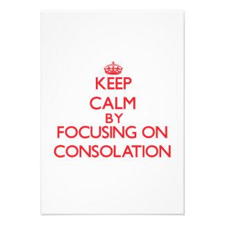 Guarde la calma centrándose en la consolación invitación