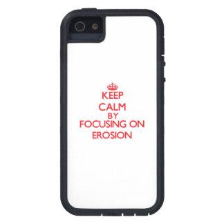 Guarde la calma centrándose en la EROSIÓN iPhone 5 Case-Mate Funda