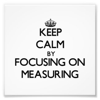 Guarde la calma centrándose en la medición