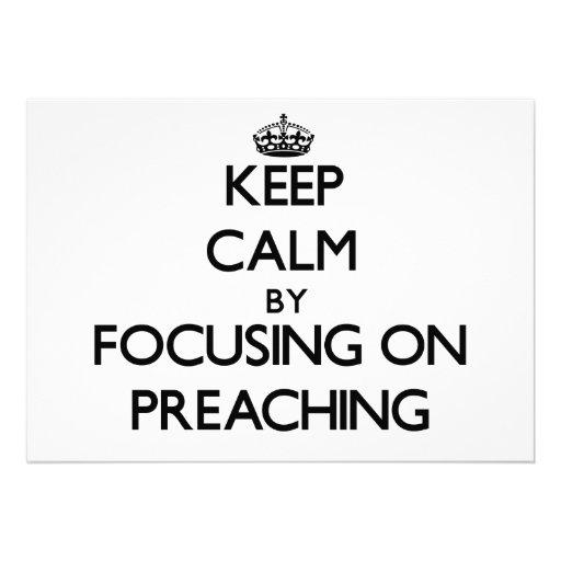 Guarde la calma centrándose en la predicación invitación personalizada