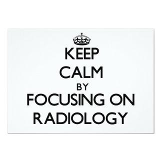 Guarde la calma centrándose en la radiología anuncio