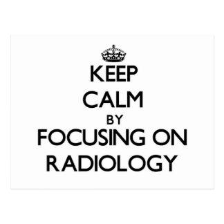 Guarde la calma centrándose en la radiología postales