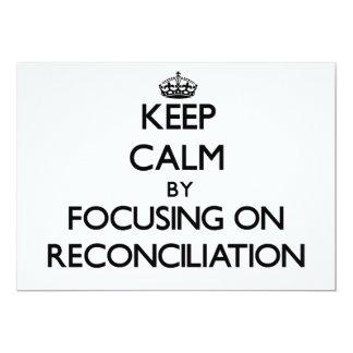 Guarde la calma centrándose en la reconciliación invitación personalizada