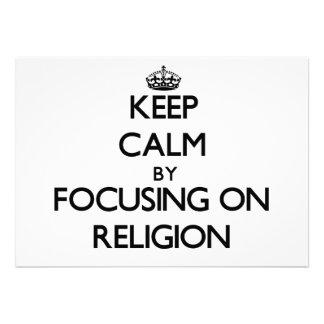 Guarde la calma centrándose en la religión