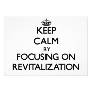 Guarde la calma centrándose en la revitalización