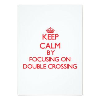 Guarde la calma centrándose en la travesía doble invitación 12,7 x 17,8 cm
