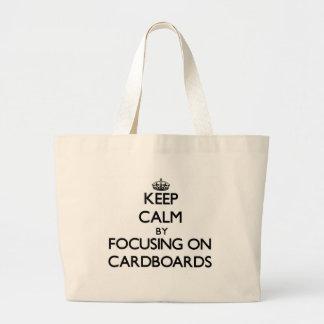 Guarde la calma centrándose en las cartulinas bolsas