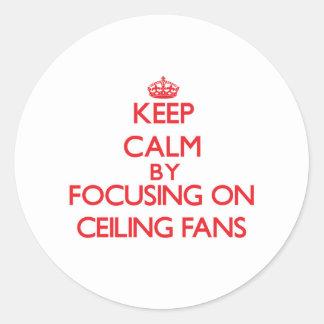 Guarde la calma centrándose en las fans de techo pegatina redonda