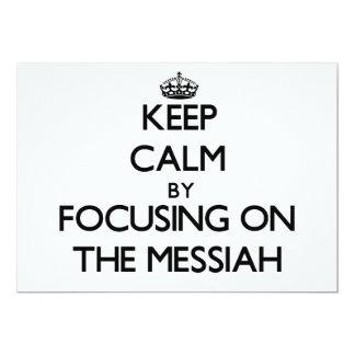 Guarde la calma centrándose en las Mesías Invitación 12,7 X 17,8 Cm