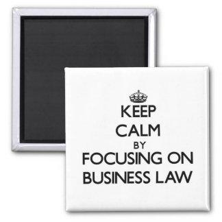 Guarde la calma centrándose en ley de negocio imán para frigorífico