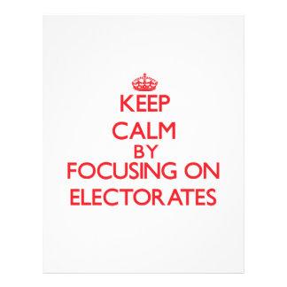 Guarde la calma centrándose en los ELECTORADOS Flyer Personalizado
