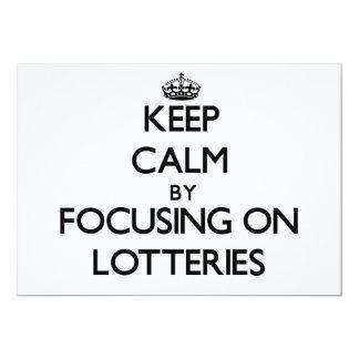 Guarde la calma centrándose en loterías anuncios