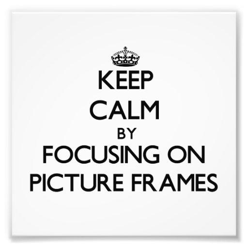Guarde la calma centrándose en marcos fotografía