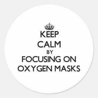 Guarde la calma centrándose en máscaras de oxígeno