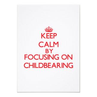 Guarde la calma centrándose en maternidad comunicados personalizados