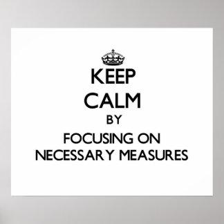 Guarde la calma centrándose en medidas necesarias