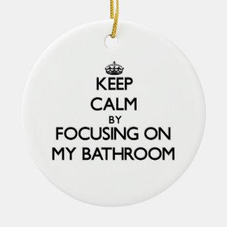 Guarde la calma centrándose en mi cuarto de baño