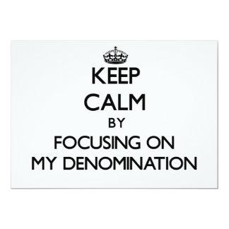 Guarde la calma centrándose en mi denominación comunicado personal
