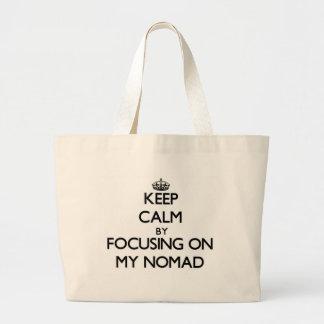 Guarde la calma centrándose en mi nómada bolsa