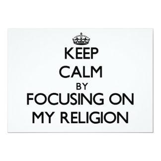 Guarde la calma centrándose en mi religión anuncio personalizado