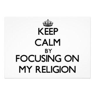 Guarde la calma centrándose en mi religión