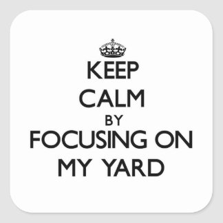 Guarde la calma centrándose en mi yarda
