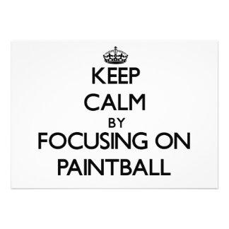 Guarde la calma centrándose en Paintball