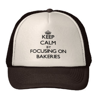Guarde la calma centrándose en panaderías gorros bordados