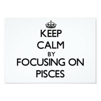 Guarde la calma centrándose en Piscis Invitación 12,7 X 17,8 Cm