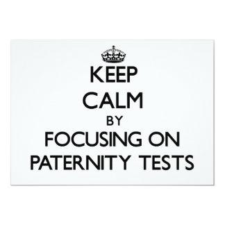 Guarde la calma centrándose en pruebas de invitación personalizada