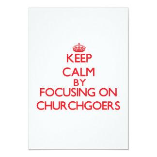 Guarde la calma centrándose en religiosos invitación