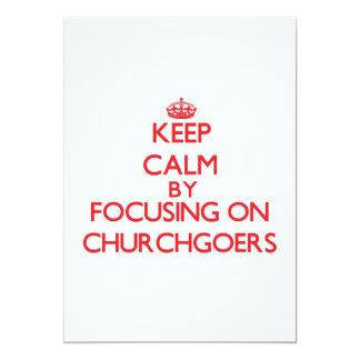 Guarde la calma centrándose en religiosos comunicado personalizado