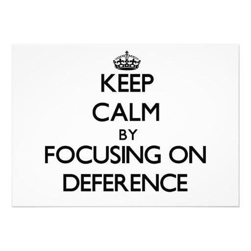 Guarde la calma centrándose en respeto comunicados personales