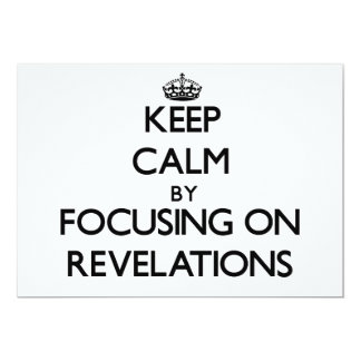 Guarde la calma centrándose en revelaciones invitación 12,7 x 17,8 cm