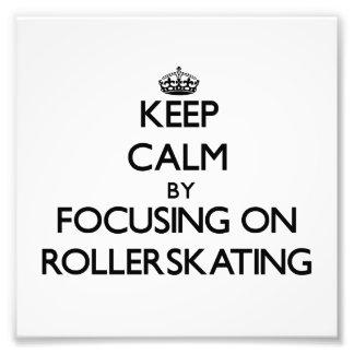 Guarde la calma centrándose en Rollerskating Fotografía