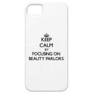 Guarde la calma centrándose en salones de belleza iPhone 5 Case-Mate protector