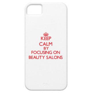 Guarde la calma centrándose en salones de belleza iPhone 5 Case-Mate cárcasa