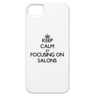Guarde la calma centrándose en salones iPhone 5 Case-Mate coberturas