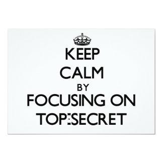 Guarde la calma centrándose en secretísimo comunicado personalizado