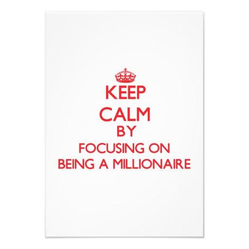 Guarde la calma centrándose en ser un millonario anuncios personalizados