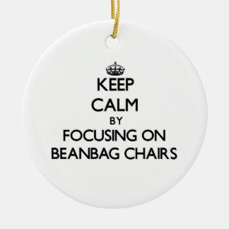 Guarde la calma centrándose en sillas del Beanbag Ornamentos Para Reyes Magos