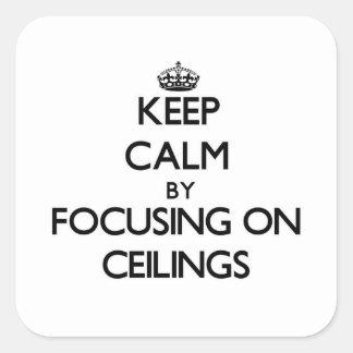 Guarde la calma centrándose en techos calcomanías cuadradass personalizadas