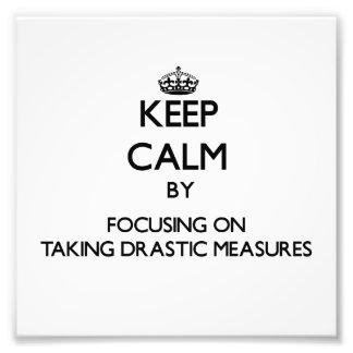 Guarde la calma centrándose en tomar medidas drást