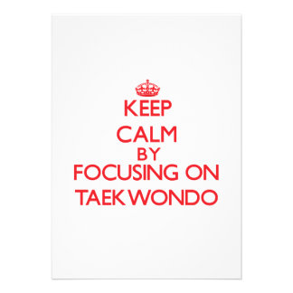Guarde la calma centrándose encendido en el Taekwo Anuncios