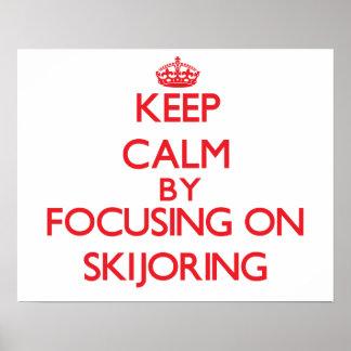Guarde la calma centrándose encendido en Skijoring Impresiones