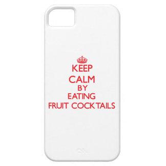 Guarde la calma comiendo las ensaladas de fruta funda para iPhone 5 barely there