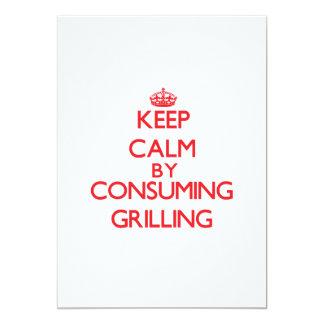 Guarde la calma consumiendo el asado a la parilla comunicado personal