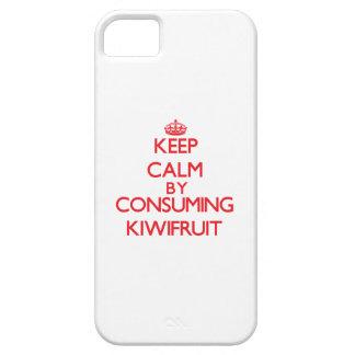Guarde la calma consumiendo el kiwi iPhone 5 Case-Mate fundas