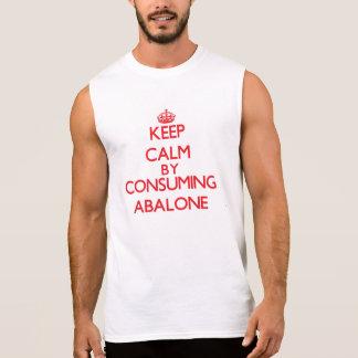 Guarde la calma consumiendo el olmo camisetas sin mangas
