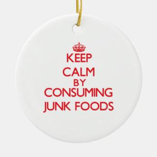 Guarde la calma consumiendo las comidas de desperd adornos de navidad